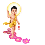 Phat Dan Vesak Buddha Baby Painting Transparent Background